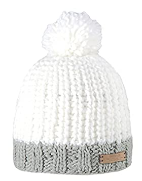 66e0116929c Barts Unisex Jordan Beanie - bobble hat - White (Weiß), One size ...