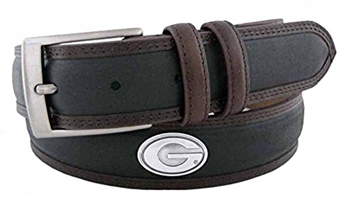 ZeppelinProducts UGA-BBLPS-BLK-36 Georgia Concho Two Tone Leather Belt, 36 Waist from ZEP-PRO