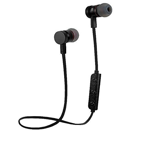 60%OFF Bluetooth Earbuds Wireless Headset (Black Cord). CVC 6.0 noise cancelation technology. M9 - Bell Pass Ventures (Black)