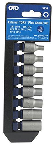 OTC 5931 8-Piece External Torx Plus Socket Set