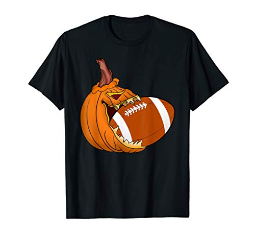 Pumpkin Carving Eat Football Ball Costume T-Shirt]()