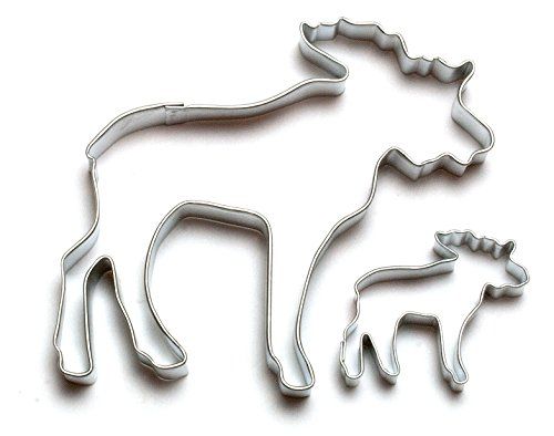 Cybrtrayd Parent/Child Cookie Cutter Set, 4-Inch, Moose