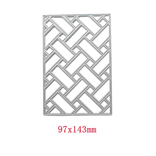 Embossing Craft Decor for Home DIY Scrapbooking Album Card puhoon Cutting Dies Lattice Metal Stencil
