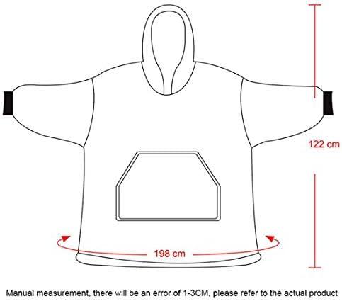 GJNWRQCY Hoodie Decke, Maxi-Super Soft Warm Bequeme Riesen Hoody, Fit für Erwachsene Männer Frauen Teens,Rosa