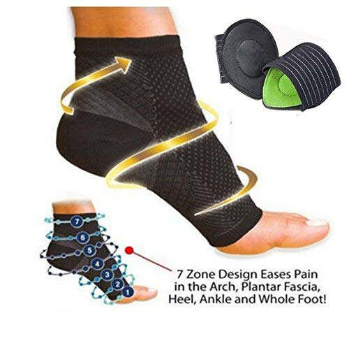Orthotic Compression Ankle and Heel Support Sleeves For Your Aching Heels,...