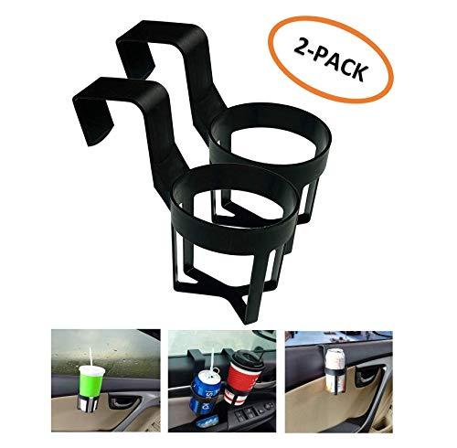 WESEEDOO Portabicchieri Car Window 2-Pack Supporto per Bevande Auto Universale Supporto per Bevande Auto Porta lattine (Nero) KOUZEN