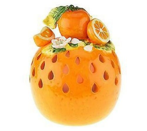 Home Reflections H199012 Orange Fruit Luminary with Flameless Candle & Timer