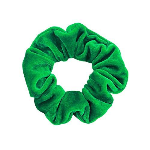 Lovely Polka Dot Design Hair Scrunchies Ponytail Holder Hair Ties Gum Hair Bands (Color - #56 light green)