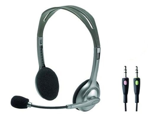 Logitech H110 3.5 Mm Stereo Headset Noise Cancelling Mic Chat Gaming for Pc MAC High Quality Product Fast Shipping