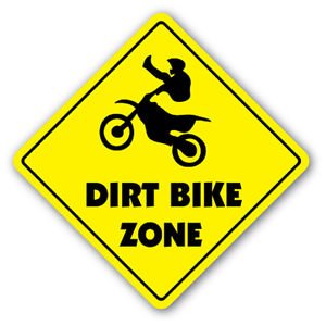 DIRT BIKE ZONE Sign Decal xing gift novelty jump berm tires trail ride