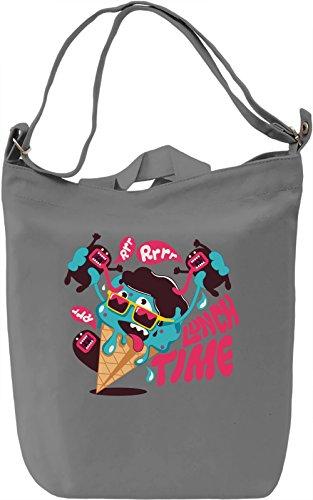 Lunch time Borsa Giornaliera Canvas Canvas Day Bag| 100% Premium Cotton Canvas| DTG Printing|