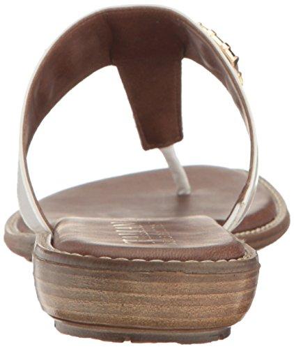 Tribe Patent Sandal White Italian Shoemakers Flat Women's EpwTqnaYz7