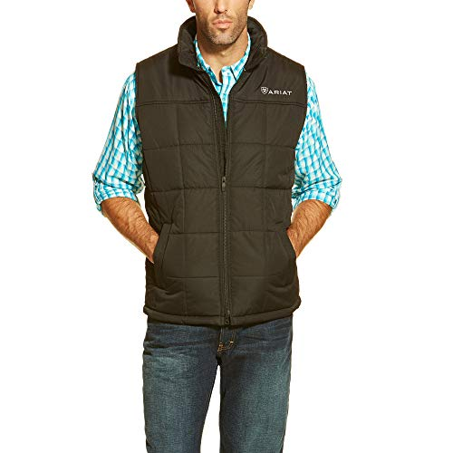 ARIAT Men's Crius Vest, Black, 2XL (Water Ariat Black)