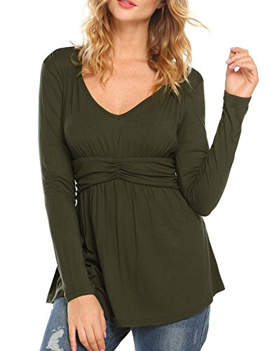 Long Sleeve Baby Doll Top - 2