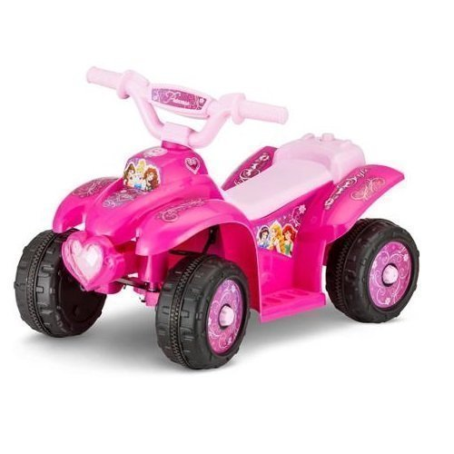 Disney Princess 6V Battery Powered Ride-On Quad Pink by Disney
