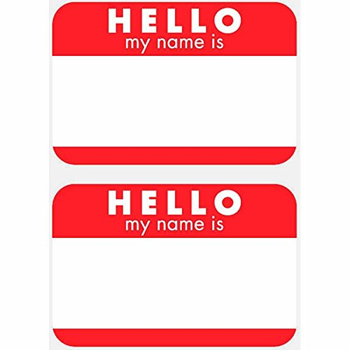 Hello Name Tags, 100ct, Party Favor