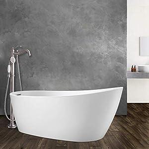 Magnus Home Products Radnor Acrylic Slipper Freestanding Bathtub, 60