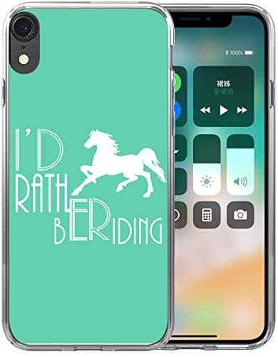 XR Case Horse/IWONE Designer Rubber Durable Protective Skin Transparent Cover Shockproof Compatible with iPhone XR[10R] 2018 6.1 Inches Horse Design Animal Writings (Skin Phone Protector Cover)