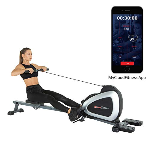 (Fitness Reality 1000 Plus Bluetooth Magnetic Rower Rowing Machine with Extended Optional Full Body Exercises and Free App)