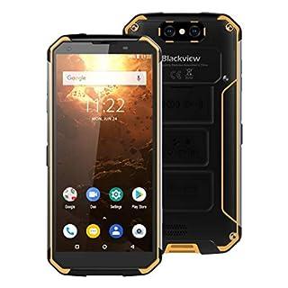 XUAILI Unlocked Smartphones BV9500 Plus Rugged Phone, IP68/IP69K Waterproof Dustproof Shockproof, Face ID & Fingerprint Identification, NFC etc (Color : Yellow)