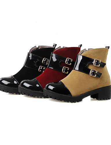 Casual Rojo 5 Vellón Negro uk8 7 5 Botines 5 Punta Robusto us6 Patentado yellow Zapatos cn43 XZZ us10 yellow us10 Amarillo Botas black 5 de Cuero Redonda cn37 5 Tacón Vestido 5 eu42 uk4 mujer eu37 qwa6vPF
