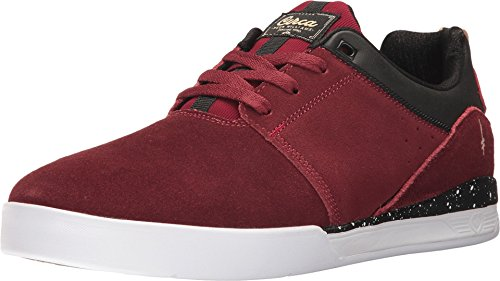C1RCA Men's Neen Williams Durable Flex Non Slip Skate Shoe, Brick Red/Deathwish, 10.0 Medium US