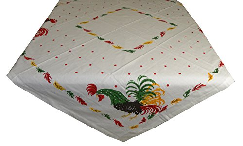 (Rooster Vintage Reproduction Cotton Tablecloth, 52 inch)