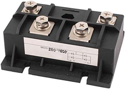 Brueckengleichrichter - SODIAL(R)200A 1600V Diodenmodul Einphasiger Brueckengleichrichter MDQ-200A