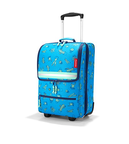 Shopping Trolley Luggage Bag With Wheels (Blue) - 2