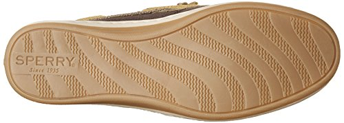 Sperry Womens Songfish Sparkle Canvas Mocassino Marrone Scuro