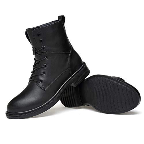 Blackplusvelvet Uomo Leggero Bovina da Superiore Strato Stivali Lavoro Ginnastica Scarpe Impermeabile Pelle Scarpe da qC6EBZwx
