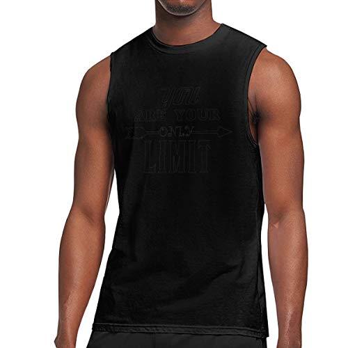 - Webb Men's Muscle Tank Top Softball Only Limit Gym Training-Tech Running Activewear Black