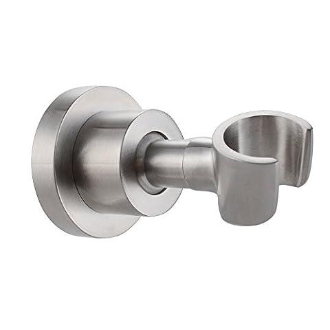 KES C214-2 Shower Head Bracket Holder Stepless Adjustable Wall Mount, Brushed SUS304 Stainless Steel
