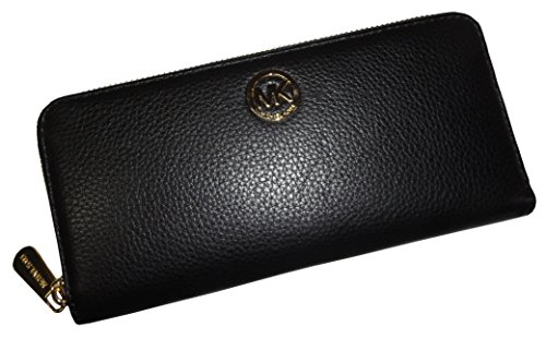 Michael Kors Fulton ZA Continental Wallet - Black by Michael Kors