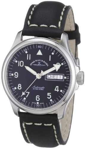 Zeno Watch Basel Men's Automatic Watch Basic 12836DDN-a1 with Leather Strap