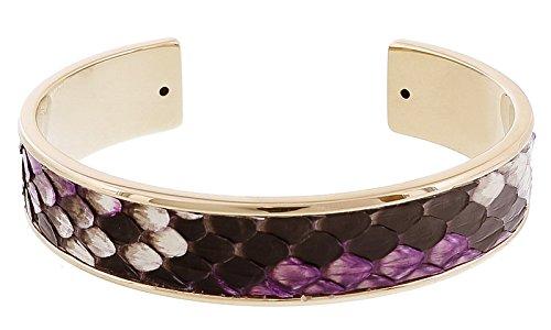 Stamerra MEMAN PITTONE VIO Purple Genuine Python Bracelet for womens