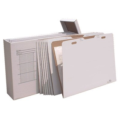 Vertical Flat File System Filing Box (Set of 8) Size: 34