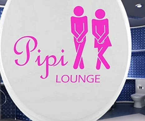 Pleasant Mydruck Store Toilet Seat Decal Pipi Lounge Funny Bathroom Gmtry Best Dining Table And Chair Ideas Images Gmtryco