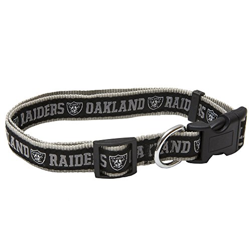 Pets First NFL Oakland Raiders Pet Collar, Large]()