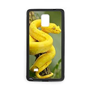 Beautifulcase Black Yellow eyelash pit viper cell phone case cover hTdm10jyvt0 For Samsung Galaxy Note 4