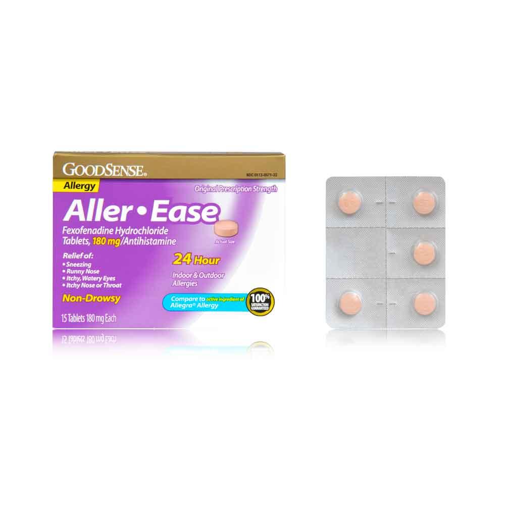Fexofenadine hcl 180 mg 24 hour.doc - Good Sense Aller Ease Fexofenadine Hydrochloride Tables 180 Mg