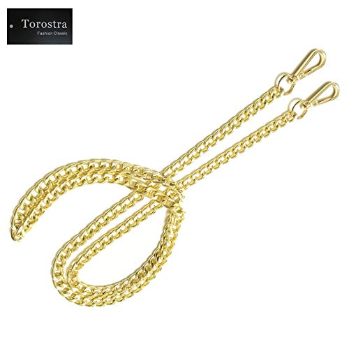 Torostra BL-G 10MM Width Chain Strap Handbags Replacement Chains for Wallet Clutch Satchel Tote Bag 47