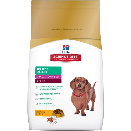 PACK OF 2 - Hill's Science Diet Adult Small & Toy Breed Perfect Weight Chicken Recipe Dry Dog Food, 15 lb bag