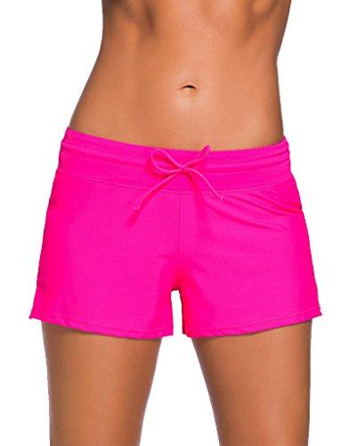 - PARICI Women's Side Split Waistband Swim Shorts with Panty Liner Plus Size S-3XL