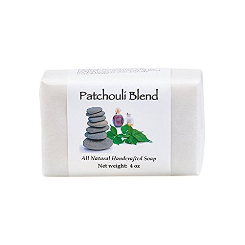 Patchouli Blend Handmade Soap with Coconut, Olive, Sweet Almond and Palm Oils, Cocoa and Shea Butters, Sweet Orange and Lavender Essential Oils (One Bar) by MoonDance Soaps and More