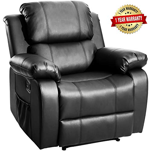Harper&Bright Designs Merax Power Massage Reclining Chair with Heat and Massage Heated Vibrating Massage Recliner