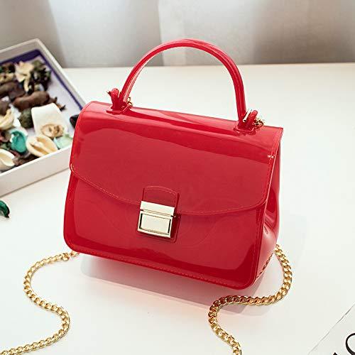 Personalidad Mini Albaricoque Rojo Bolsos Color Moda Través Playa Cadena Diagonal Saoga A Del Sólido Casual Jalea Paquete Hombro De RUndtIxw