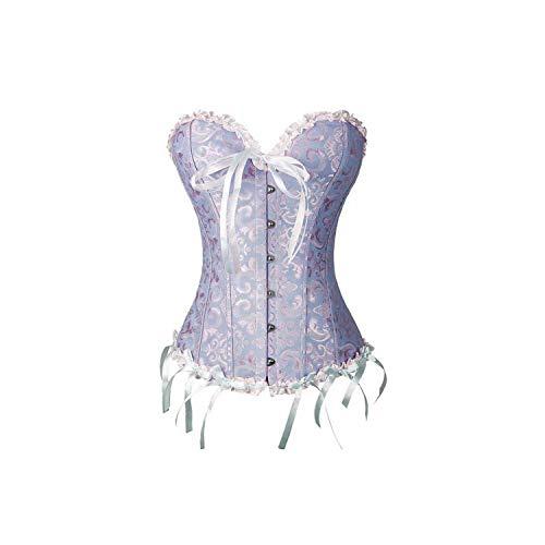 Yeenvan Design Lady's Bridesmaid Dresses Waist Corsets Bustier Lace Up Boned Steampunk Halloween Costumes Boby Shaper,Blue,5XL]()