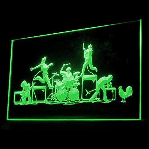 140041 Band Rock n Roll Studio Classical Guitar Music Display LED Light Sign