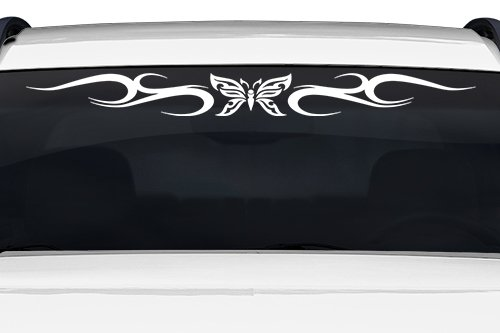 Sticky Creations - Design #134-01 Butterfly Tribal Swirl Swoosh Windshield Decal Sticker Vinyl Graphic Back Rear Window Banner Tailgate Car Truck SUV Van Go Cart Boat Trailer Wall | 36